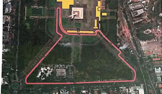 Ini Layout Sirkuit Formula E Jakarta 2020 yang Diajukan Anies