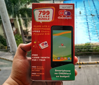 Cherry Prepaid Outs Flare Lite 2 Bundle, Quad Core Android Phone Plus SIM Plus Freebies for Only Php799