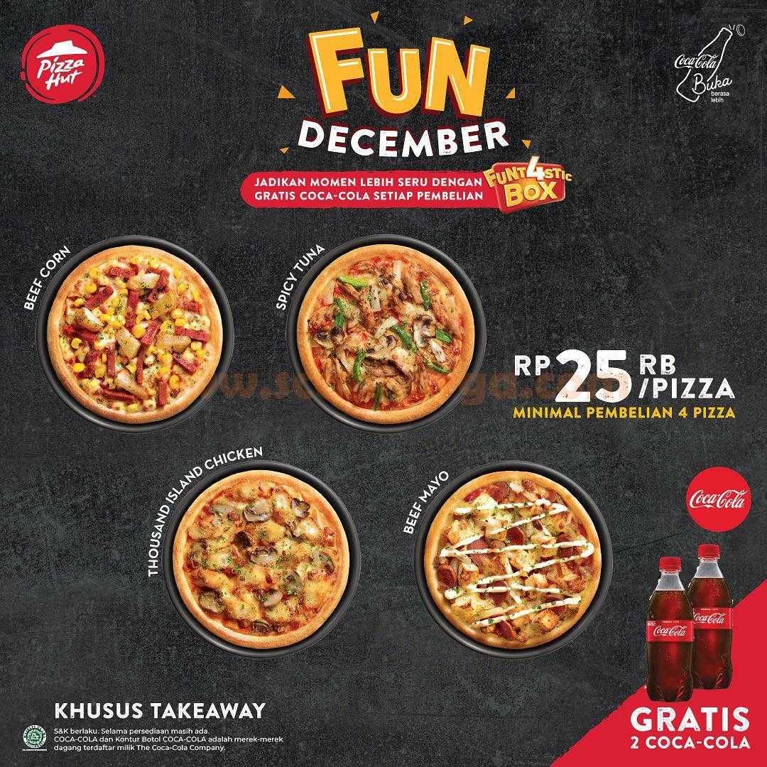 Promo PIZZA HUT GRATIS Coca-Cola Tiap pembelian Paket FUNT4STIX Box