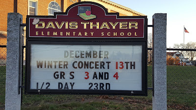 Davis Thayer Elementary School - Winter Concert Dec 13, Grade 3 and 4