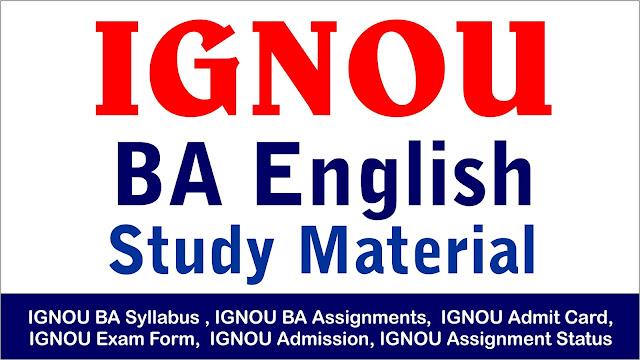 ignou ba english study material ; ignou ba ; ignou ba study material