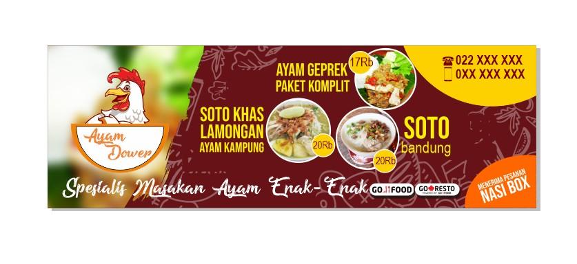 3 Contoh Spanduk Banner Untuk Warung Makan Minum Format Cdr Siap Edit Kanalmu