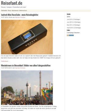 Screenshot Reisefant.de