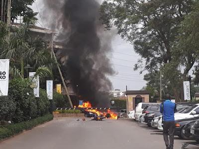 Bom Blast in Nairobi. PHOTO | THE STAR