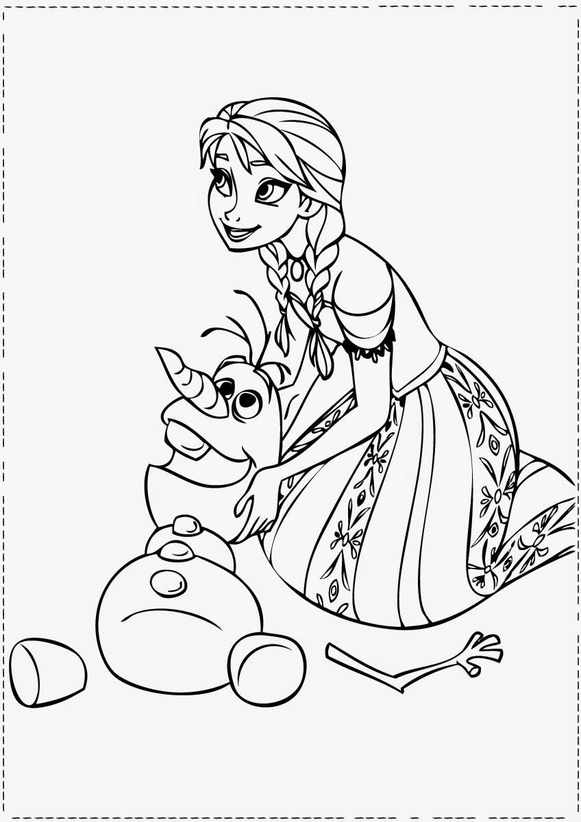 Frozen anna elsa kristoff olaf coloring printable car for Ana coloring pages