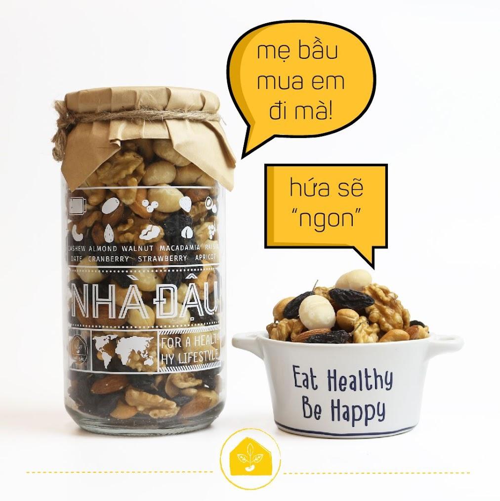 [A36] Mixnuts dinh dưỡng cho Bà Bầu tháng đầu nên ăn