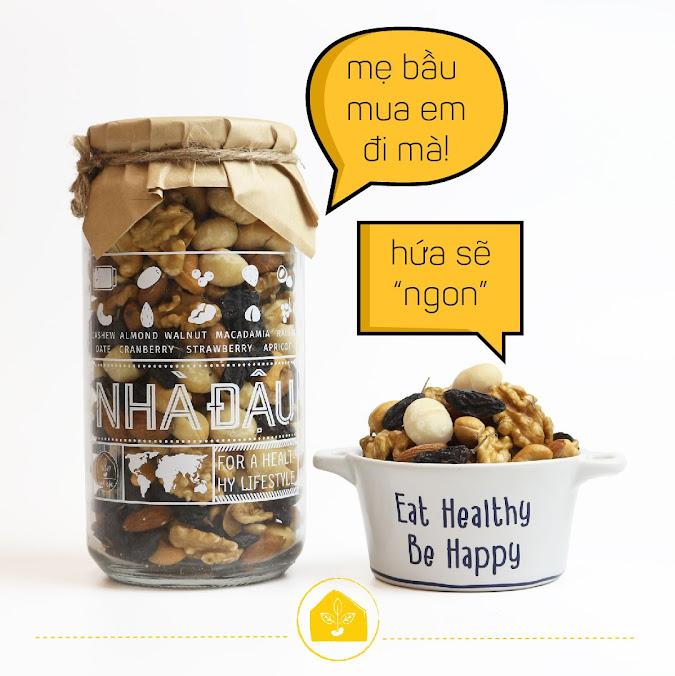 Mixnuts 5 loại hạt Mẹ Bầu tháng đầu nên ăn hàng ngày