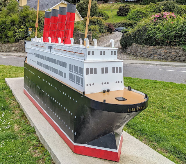 West Cork Ireland - Model of the Lusitania in Courtmacsherry