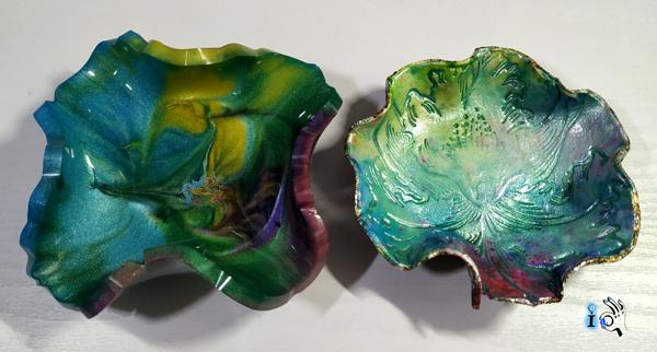 2 modelos de cuencos o vaciabolsillos multicolor Ideadoamano