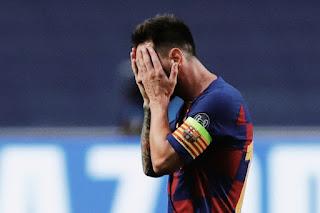 Messi first sent off with Barcelona  ميسي أول طرد مع برشلونة