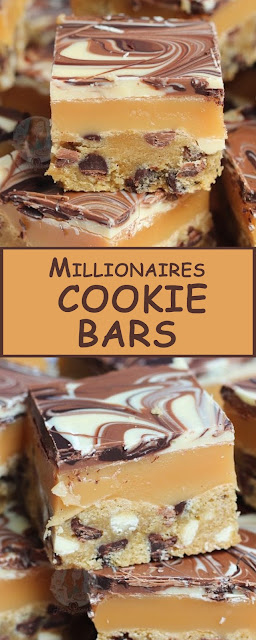 Millionaires Cookie Bars #cookierecipes #bars #dessert