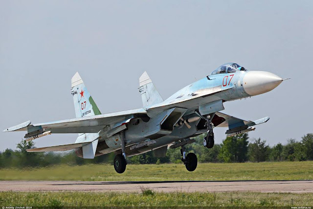 Russian Su-27 scrambled intercept US aircraft