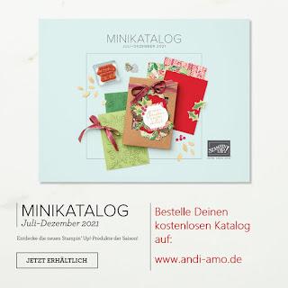 Stampin Up Minikatalog Juli-Dezember 2021 kostenlos bestellen