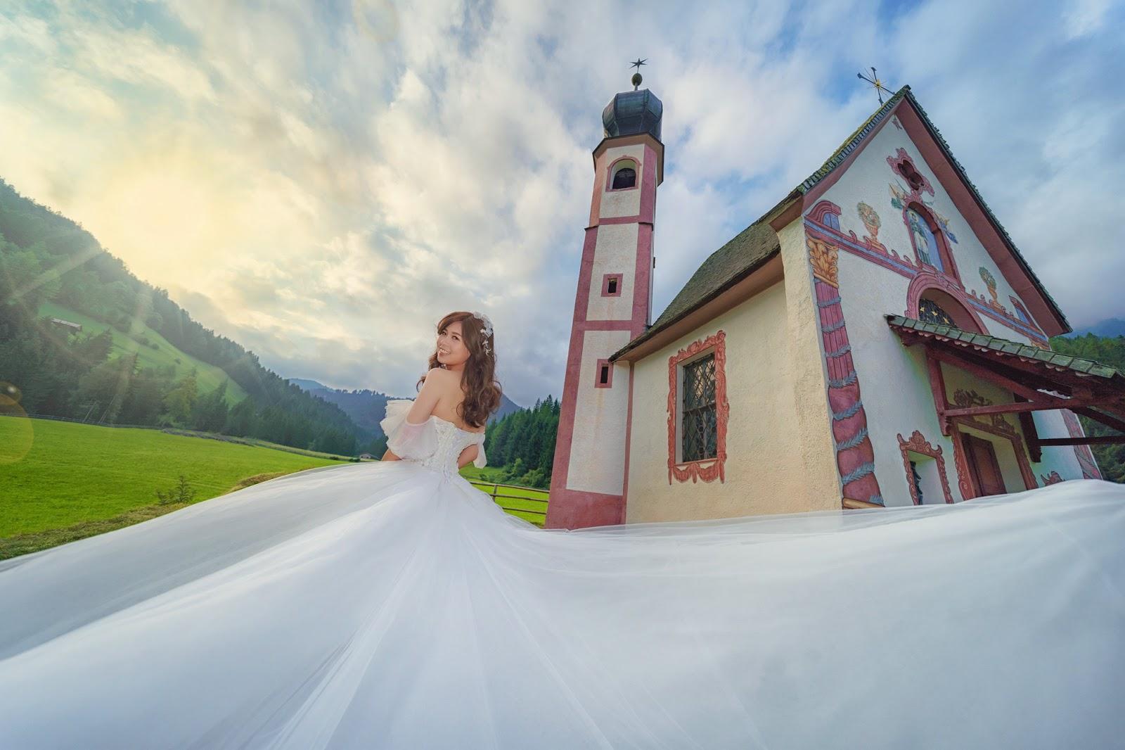 多洛米蒂紗 富內斯 Val di Funes 仙境婚紗 Dolomiti婚紗 義大利婚紗 Bolzano 波扎諾 威尼斯婚紗 米蘭羅馬