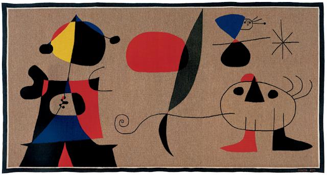 Időben visszajutottak az átázott Miró-kárpitok a kiállításra