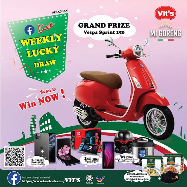 Vit's Italian Mi Goreng Exclusive Lucky Draw 2020 Banner