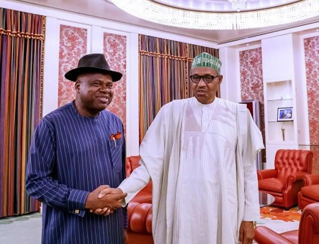 Governor Diri reveals discussion with Buhari at Aso Rock