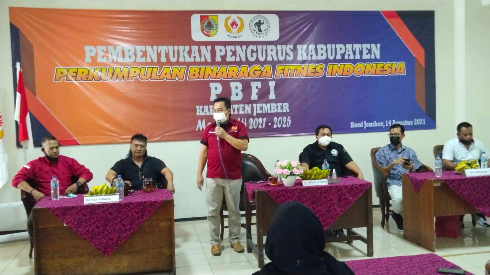 Junaidi Terpilih Menjadi Ketua PBFI Jember 2021-2025