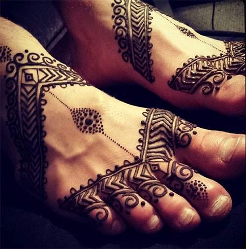 Desain Motif Henna Di Kaki Untuk Pernikahan Contoh Gambar Henna