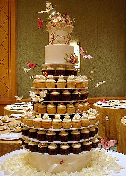 Cute Cupcakes Wedding Cupcake