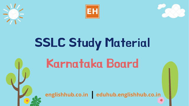 SSLC Study Material - Second Language English
