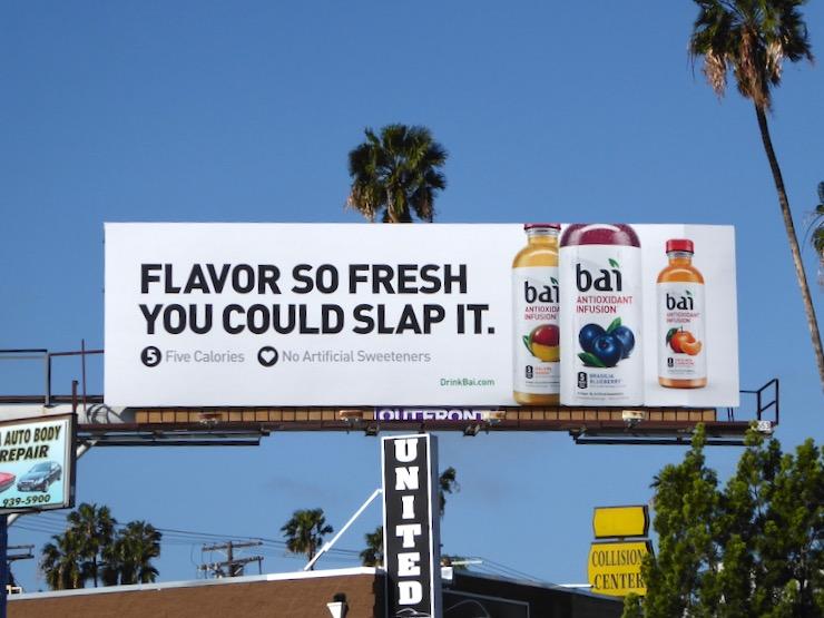 Flavor so fresh you could slap it Bai billboard