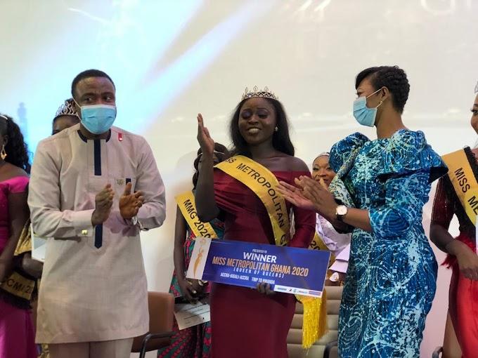 Grace Nellie Yeboah crowned as Miss Metropolitan Ghana 2020
