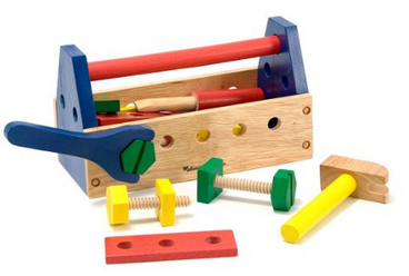 Melissa and Doug wooden tool set and tool box
