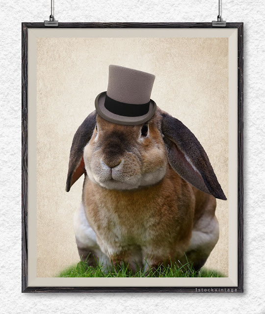 rabbit print nursery decor bunny poster rabbit wall art