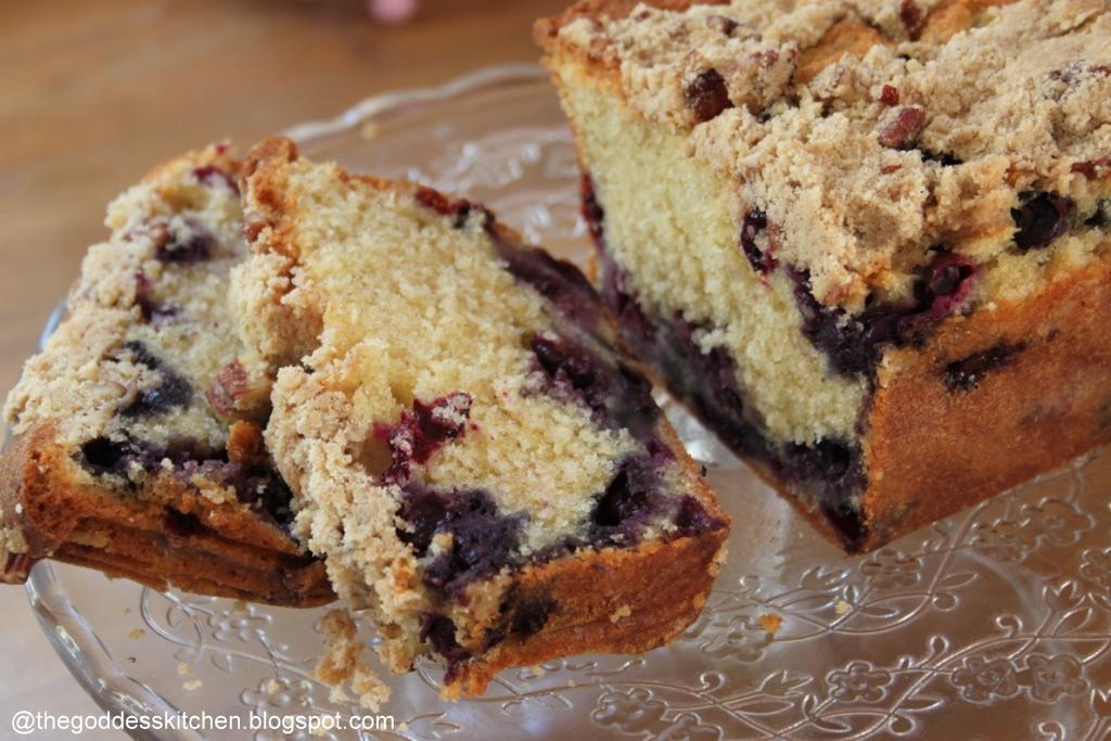 Hummingbird Cake Recipe Joy Of Baking: The Goddess's Kitchen ♥: Blueberry Crumble Loaf