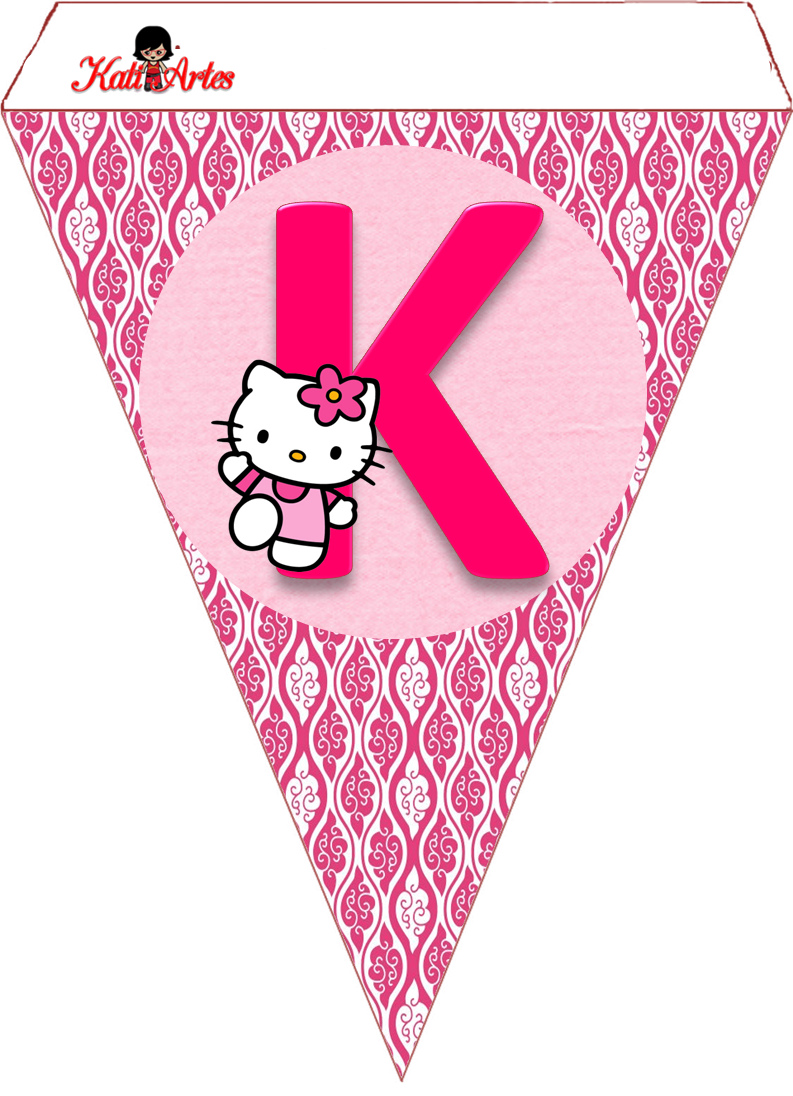 Hello Kitty Free Printable Bunting. - Oh my Alfabetos!