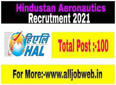 Hindustan Aeronautics Limited Recruitment 2021 - 100 Posts Trainee & Management Trainee Posts