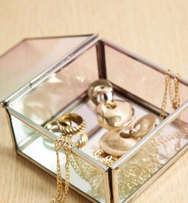 Boîte à bijoux carrée à effet dégradé