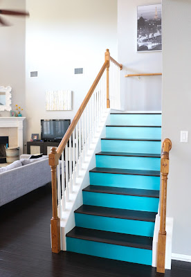 http://kailochic.blogspot.com/2015/08/paint-it-ombre-stairs.html