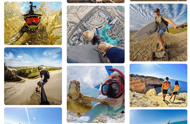 action photos take with GoPro