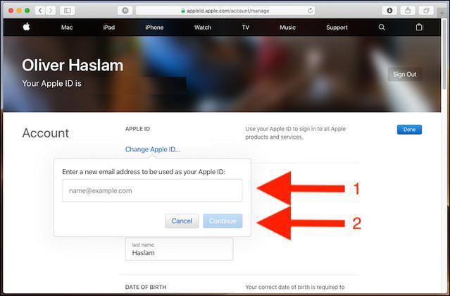 كيفية تغيير معرف البريد الإلكتروني الخاص بك في آبل Apple ID