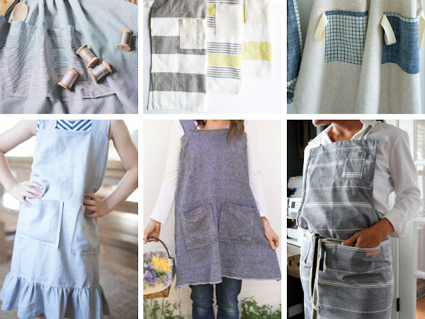 15+ Modern Aprons You Can Sew