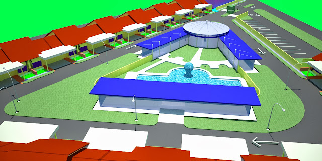 Site Plan 3D Town House