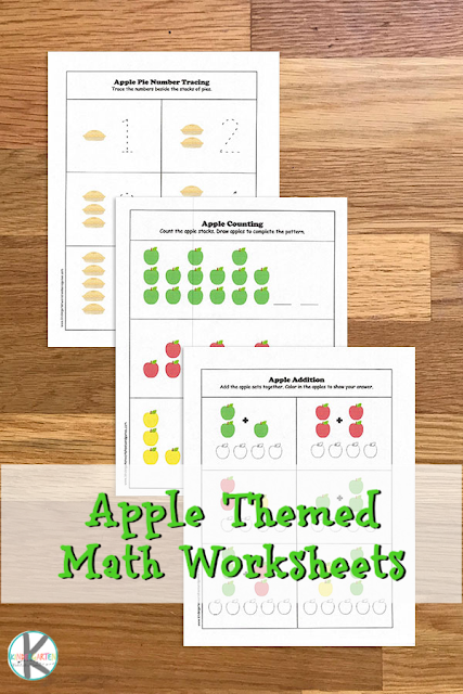 Apple Math Worksheets Kindergarten Worksheets And Games