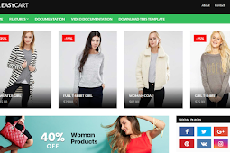 Easy Cart Premium Blogger Template [Free Download]