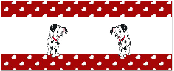 101 Dalmatians in Red and Black, Free Printable Labels.