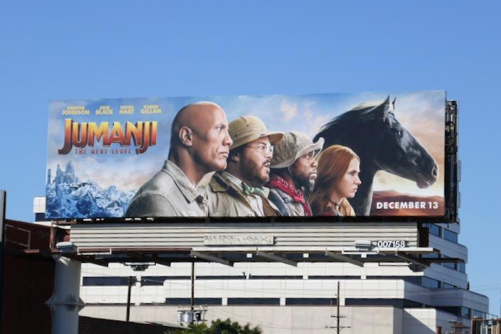 Jumanji Next Level billboard