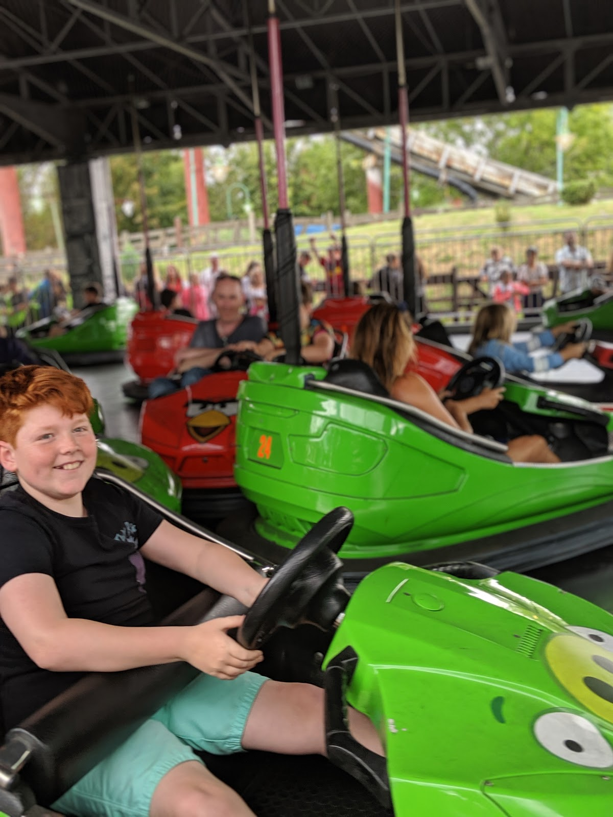 Exploring the Southern Merlin Theme Parks with Tweens  - Angry Bird Dodgems at Thorpe Park