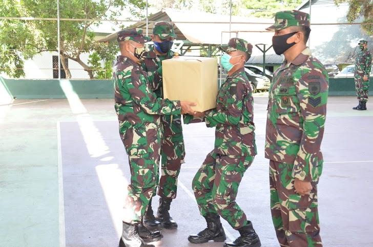 Danrem Brigjen Djashar Berikan Bantuan Sembako Idul Fitri Pada Anggotanya
