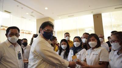 Menko Airlangga Kunjungi Medan dengan Peserta Program Kartu Prakerja Terbanyak di Pulau Sumatera