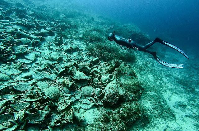 Freediving amfory Vis Chorwacja