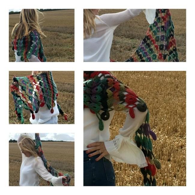 lazy daisy jones crochet shawl