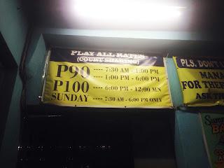 Play-All-You-Can Rates, Katipunan Prime