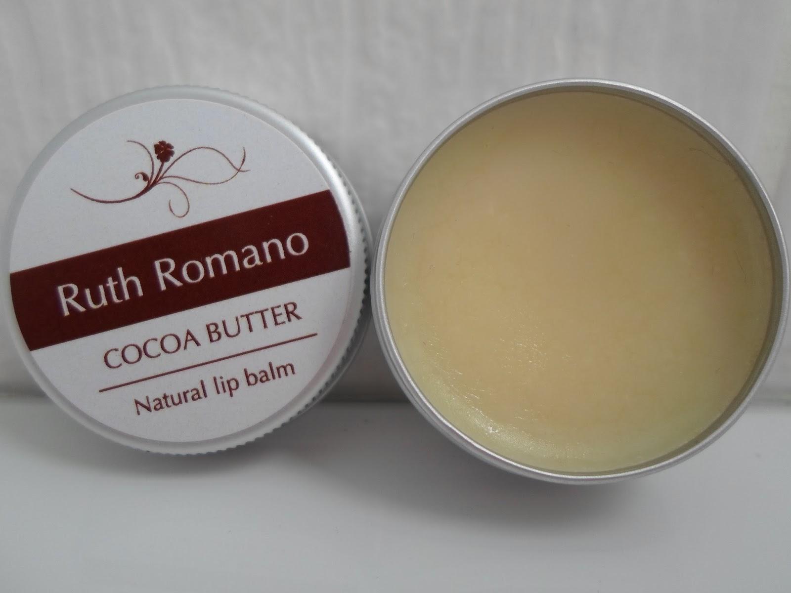 review Ruth Romano Cocoa Butter Lip Balm