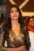 Pooja Hegde looks glamarous in deep neck sleevless short tight golden gown at Duvvada Jagannadham thank you meet function 125.JPG